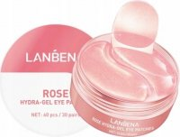 LANBENA - ROSE HYDRA GEL EYE PATCHES - Hydrogel eye pads with rose extract - 30 pairs