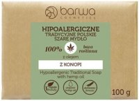 BARWA - HYPOALLERGENIC TRADITIONAL SOAP WITH HEMP OIL - Hypoallergenic gray soap with hemp oil - 100 g