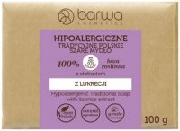 BARWA - HYPOALLERGENIC TRADITIONAL SOAP WITH LICORICE EXTRACT - Hypoallergenic gray soap with licorice extract - 100 g