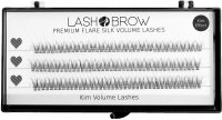 LashBrow - Premium Flare Silk Volume Lashes 10in1 - Silk eyelashes in clusters - graduated - 10in1 - KIM EFFECT - (123 clusters)
