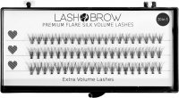 LashBrow - Premium Flare Silk Volume Lashes 20in1 - Silk eyelashes in clusters - 20in1 - (60 tufts)
