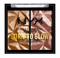 NYX Professional Makeup - BORN TO GLOW - Icy Highlighter - Double pressed highlighter - PRIDE 2021