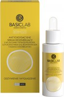 BASICLAB - ESTETICUS - Antioxidant Regenerating Serum with 6% vitamin C, 0.5% coenzyme Q10, resveratrol and borage oil - Nutrition and Smoothing - Day / Night - 30 ml