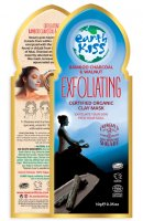 Earth Kiss - Exfoliating Organic Clay Mask - Exfoliating Clay Face Mask - Bamboo Charcoal & Walnut - 10 g