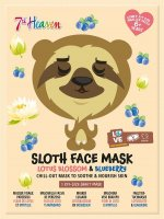 7th Heaven (Montagne Jeunesse) - SLOTH FACE MASK - Soothing face sheet mask - Lotus Flower & Blueberry
