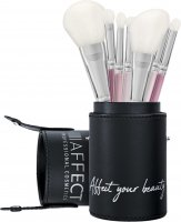 AFFECT - 7 Piece Makeup Brush Set With Tube - Set of 7 makeup brushes with a tube - KM00T