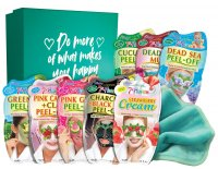 7th Heaven (Montagne Jeunesse) - Beauty Box of Treats - Gift set in a box - 8 x face mask + towel