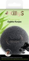 KillyS - Konjac Sponge - Natural face cleansing sponge with bamboo charcoal - ACNE SKIN