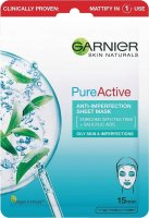 GARNIER - PURE ACTIVE - Anti-imperfection Sheet Mask - Cleansing fabric mask against imperfections - 23 g