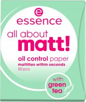Essence - All About Matt! Oil Control Paper - Matting papers with green tea - 50 pcs.