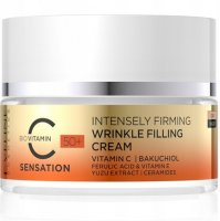 Eveline Cosmetics - C SENSATION - INTENSELY FIRMING WRINKLE FILLING CREAM - Strongly firming cream filling wrinkles 50+ Day / Night - 50 ml