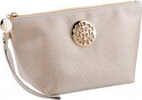 Inter-Vion - Travel Chic Cosmetic Bag - Gold Cosmetic Bag with Handle - Medium - 415110
