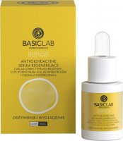 BASICLAB - ESTETICUS - Antioxidant regenerating serum with 6% Vitamin C, 0.5% Coenzyme Q10, Resveratrol and Borage Oil - Nutrition and Smoothing - Day / Night - 15 ml