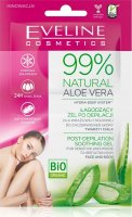 Eveline Cosmetics - BIO ORGANIC - 99% Nalural Aloe Vera - Post-Depilation Soothing Gel - Soothing gel after depilation for sensitive skin of the face and body - 2 x 5ml