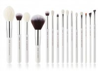 JESSUP - Individual Brushes Set - A set of 15 brushes for face and eye make-up - T242 White / Silver