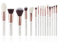JESSUP - Individual Brushes Set - A set of 15 brushes for face and eye make-up - T220 White / Rose Gold
