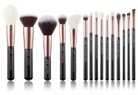 JESSUP - Individual Brushes Set - A set of 15 brushes for face and eye make-up - T160 Black / Rose Gold