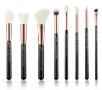 JESSUP - Individual Brushes Set - A set of 8 brushes for face and eye make-up - T158 Black / Rose Gold