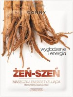 CONNY - Red Ginseng Essence Mask - Energizing face mask - Ginseng - Smoothing and energy - 23 ml