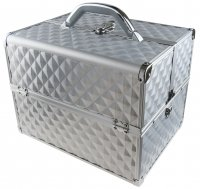 MAKE-UP BOX - PB1201-N SILVER DIAMOND (3D)