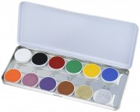 KRYOLAN - SUPRACOLOR - Make-up Palette with 12 colours - Palette of 12 greasy face paints - ART. 1004