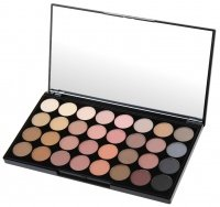 MAKEUP REVOLUTION - FLAWLESS MATTE ULTRA EYESHADOWS - Palette of 32 eyeshadows