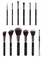 Nanshy - MASTERFUL COLLECTION ONYX BLACK - Set of 12 make-up brushes - MC-SET-002