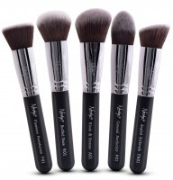 Nanshy - GOBSMACK GLAMOROUS ONYX BLACK - Set of 5 make-up brushes - FB-SET-004