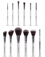 Nanshy - MASTERFUL COLLECTION PEARLESCENT WHITE - Set of 12 make-up Brushes - MC-SET-001