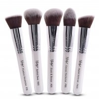 Nanshy - GOBSMACK GLAMOROUS PEARLESCENT WHITE - Set of 5 make-up brushes - FB-SET-002