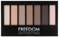 FREEDOM - PRO SHADE & BRIGHTEN MATTES KIT 1 - Palette of 6 Eyeshadows + Highlighter