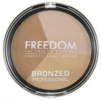 FREEDOM - BRONZED PROFESSIONAL PRO BRONZE - Contouring Kit - WARM LIGHTS