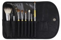 KRYOLAN - Set of 8 short brushes + case - ART. K801
