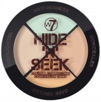 W7 - HIDE 'N' SEEK - Set of 3 concealers + highlighter