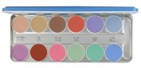 KRYOLAN - AQUACOLOR - Palette of 12 watercolors for face painting - ART. 1104