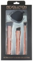 MAKEUP REVOLUTION - ULTRA SCULPT & BLEND COLLECTION - Set of 3 brushes + make-up sponge - SET