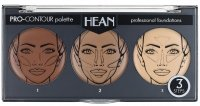 HEAN - PRO-CONTOUR palette - professional foundation - Set of creamy, contouring Foundations