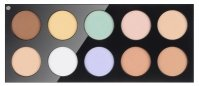 Pierre René - COLOR CORRECTING - Professional palette of 10 concealers