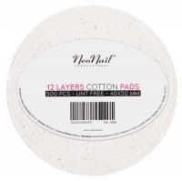 NeoNail - 12 LAYERS COTTON PADS 500 PCS - ART. 1583