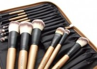 Lancrone - SUNSHADE MINERALS - Set of 15 make-up brushes + Quilted golden case - LIMITED EDITION