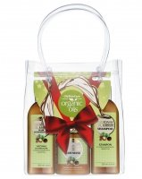 GlySkinCare - MACADAMIA ORGANIC OILS - Christmas Set - Hair Care with Macadamia Oil (shampoo, conditioner, mask)