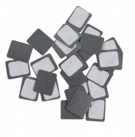 Z Palette - SQUARE METAL STICKERS - 30 pieces