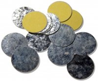 Z Palette - ROUND METAL STICKERS - Round magnetic stickers - 30 pieces