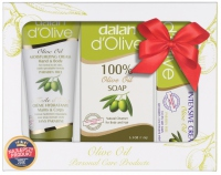 Dalan d'Olive - OLIVE OIL - Christmas set of olive cosmetics (body and hair soap, 2 hand and body creams)
