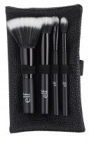 E.L.F. - STIPPLE BRUSH TRAVEL SET - STIPPLE BRUSH, SMALL STIPPLE BRUSH, EYESHADOW STIPPLE BRUSH, TAPERED STIPPLE BRUSH + CASE