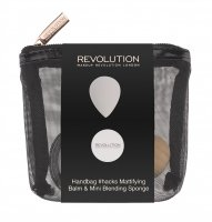 MAKEUP REVOLUTION - HANDBAG #HACKS MATTIFYING BALM & MINI BLENDING SPONGE
