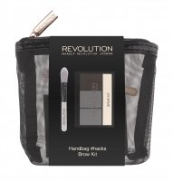 MAKEUP REVOLUTION - HANDBAG #HACKS BROW KIT - Eyebrow palette + brush
