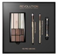 MAKEUP REVOLUTION - HD PRO BROWS - FLAT BROW BRUSH, ANGLED BROW BRUSH
