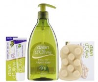 Dalan d'Olive - OLIVE OIL - Christmas set of olive cosmetics (liquid soap, hand and body cream, anti-cellulite soap for massage)