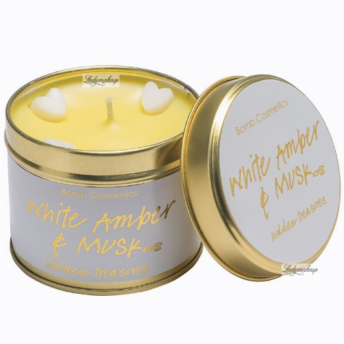 Bomb Cosmetics - White Amber & Musk - Hidden Treasures Candle
